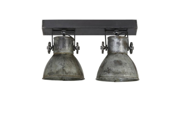 Light & Living Hanglamp 'Elay' 2-Lamps, vintage zilver
