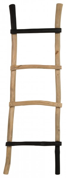 ZILT Decoratie ladder 'Edmundo' massief teak, 151cm