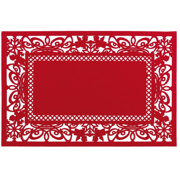 Clayre & Eef Placemat 45x30 cm rood