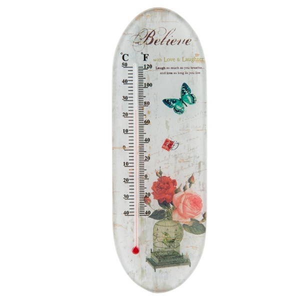 Clayre & Eef Thermometer 7x1x22 cm