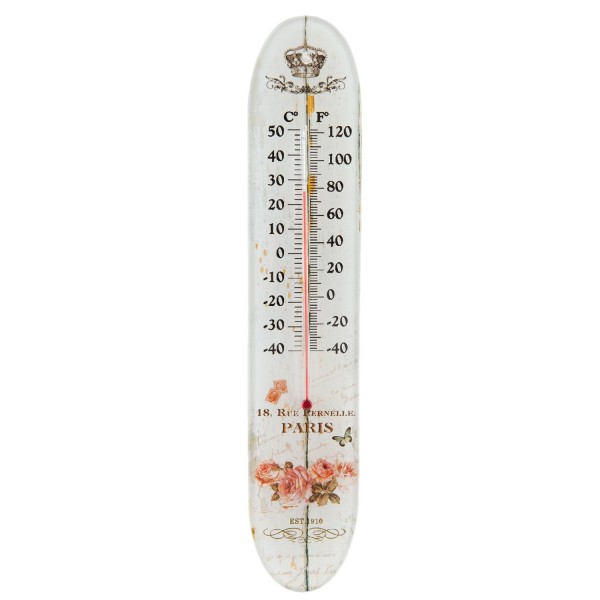 Clayre & Eef Thermometer 6x1x30 cm